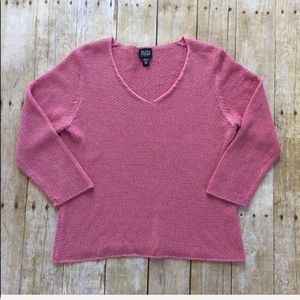 EILEEN FISHER petite v-neck sweater